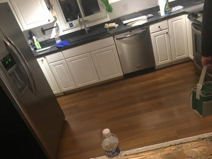 hardwood floor kitchen install