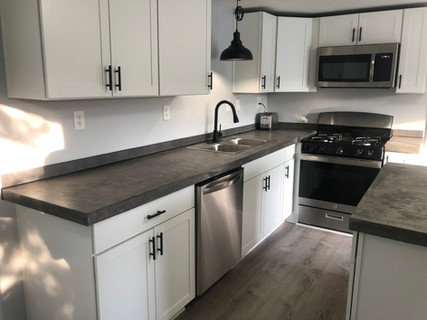 Seamless over 10 foot section of countertop