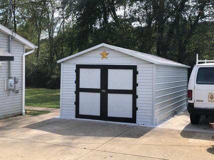 Carport conversion to enclosed outbuilding