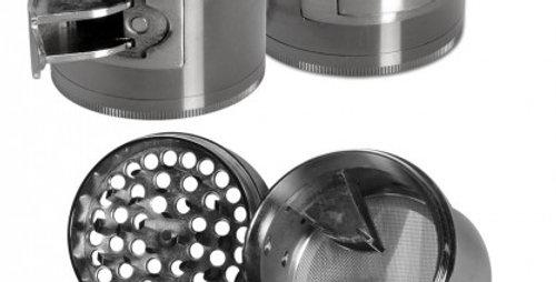 grinder in 4 parti grigio con espettorazione
