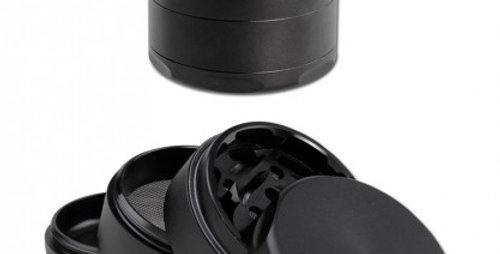 grinder in alluminio 4 parti. nero o grigio