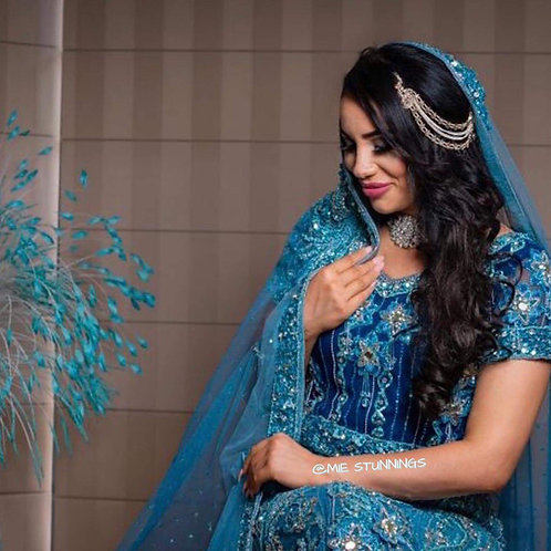 Navy Blue Bridal Lengha