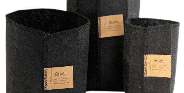 Sacchetti di coltivazione in tessuto nero 16 l