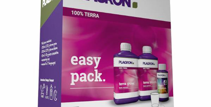 PLAGRON EASY PACK TERRA 250ML TERRA GROW, TERRA BLOOM, GREEN SENSATION