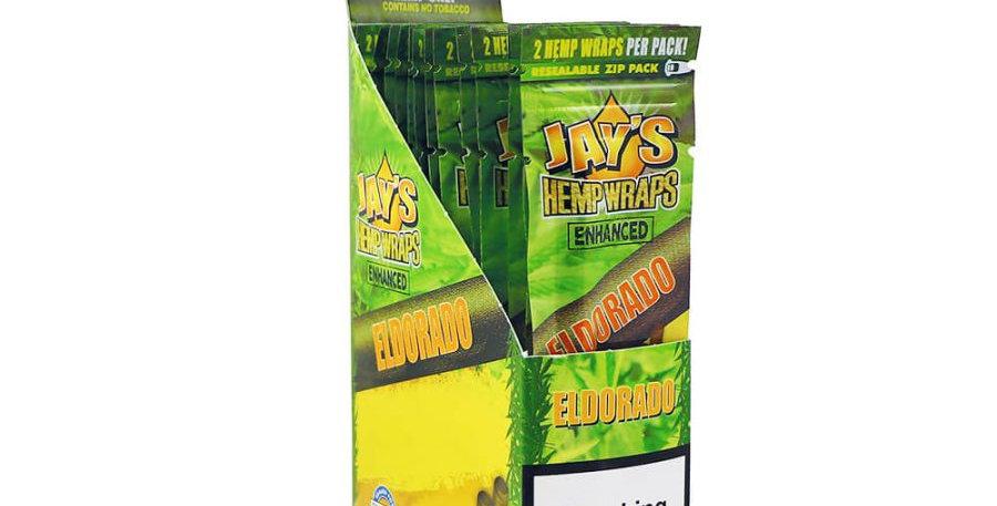 Juicy Jay's Hemp Wraps Eldorado Pineapple Shake Infuso con Terpeni
