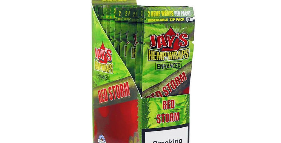 Juicy Jay's Hemp Wraps Red Storm Cherry Pie with Infuso con Terpeni