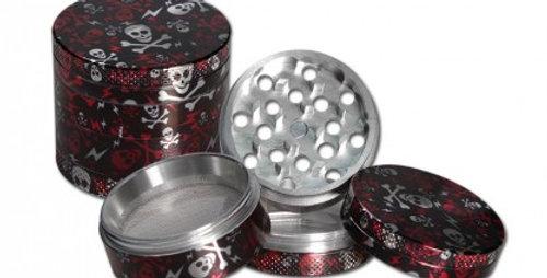 grinder in alluminio in 4 parti Teschio