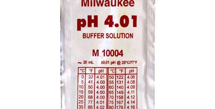 Soluzione di calibrazione per pHmetri elettronici con valore pH 4.01.