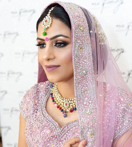 Pretty Pink Sequenced Bridal Lengha