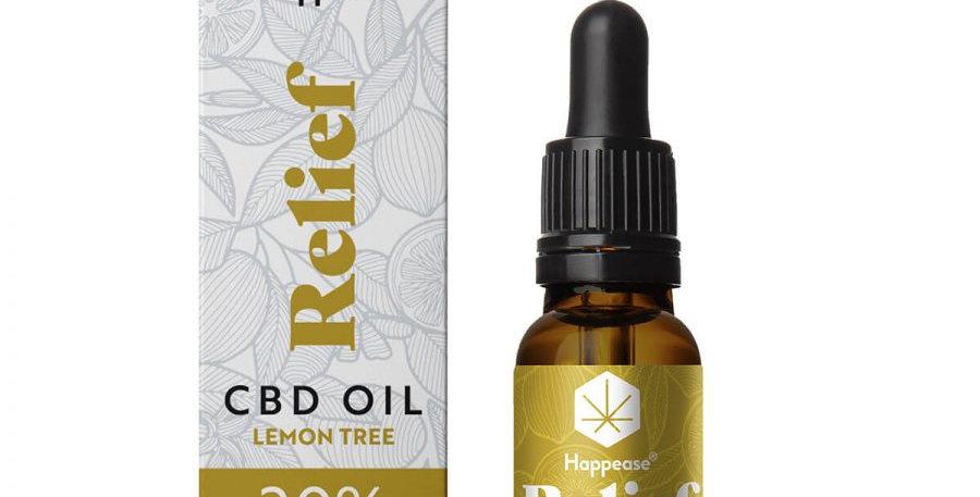 Happease Relief 20% Olio di CBD Lemon Tree (10ml)