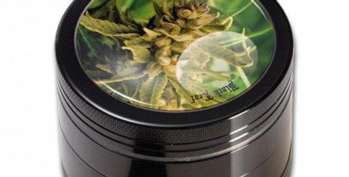 grinder black leaf in 4 parti. Erba
