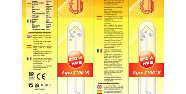 Lampada HPS AGRO Cultilite Son-T Bulbo 250W