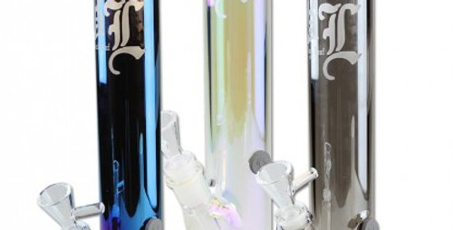 """Bong """"BL Neverland"""" con effetto arcobaleno / metallico 40 cm"""