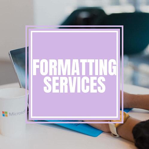 Formatting Services (Deposit)
