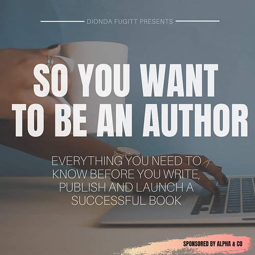 So You Want To Be An Author | Instant Download