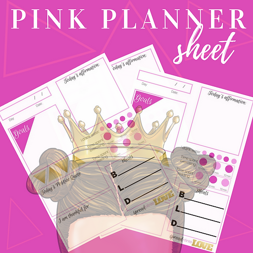 Pink Day Planner (Printable)