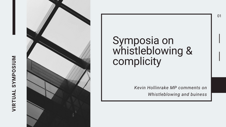 Symposia on whistleblowing & complicity hosted by the University of York