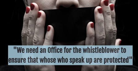 An Office of the Whistleblower is needed to ensure people who speak up are protected