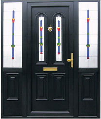 Coloured Upvc Door, sprayed pvcu doors