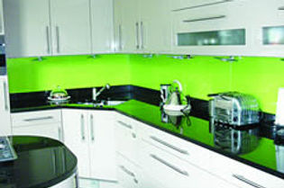 Coloured Kitchen Splashbacks