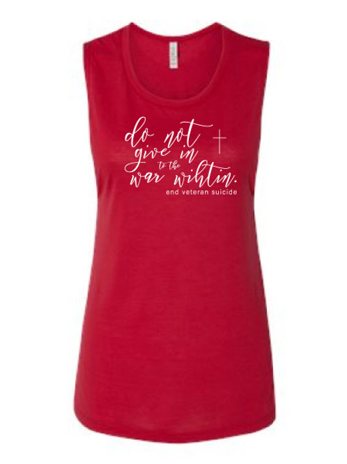 Do Not Give In Script Tank Red