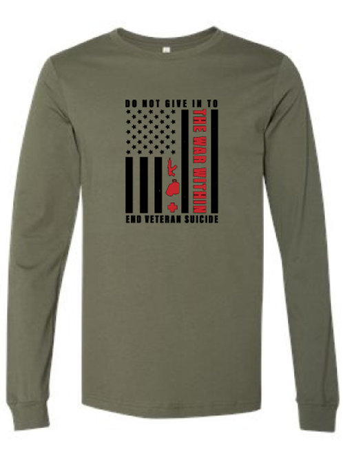 Do Not Give In Long Sleeve Tee Green