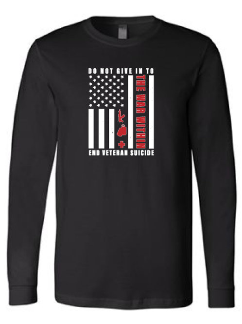 Do Not Give In Long Sleeve Tee Black