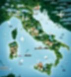 map of italy, italian wedding