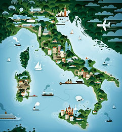 map of italy, italian wedding