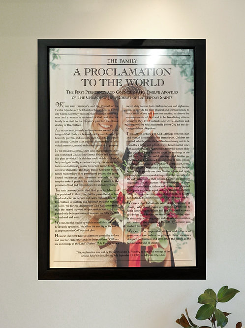 Customized Proclamation to the Family