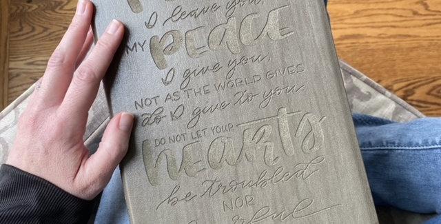 Custom Engraved Bible (NASB - Gray)