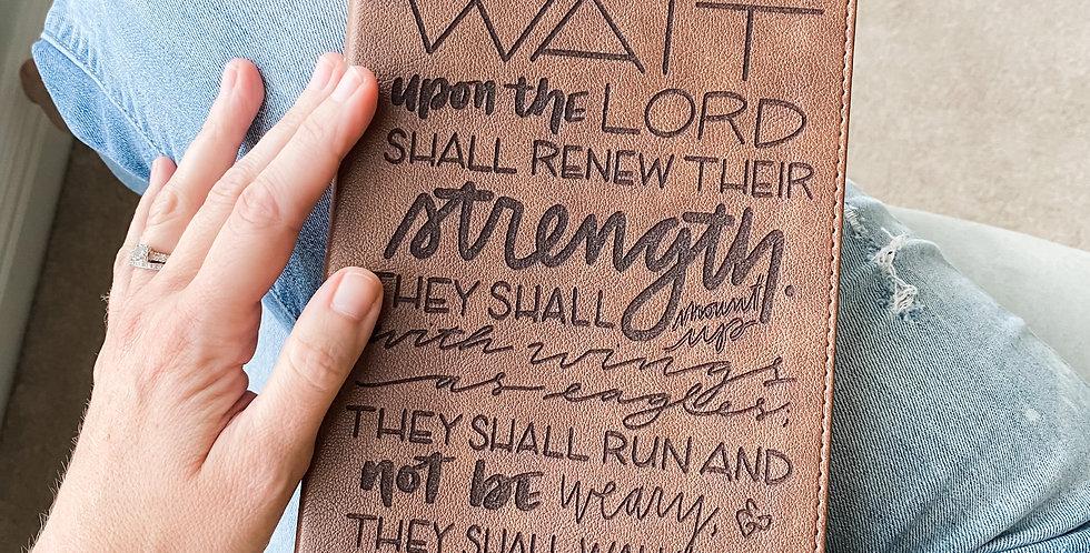 Custom Engraved Bible (KJV) -  Brown