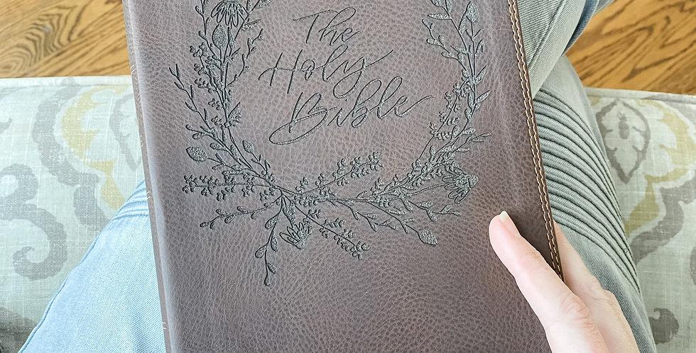Custom Engraved Bible (NIV Reference) - Brown