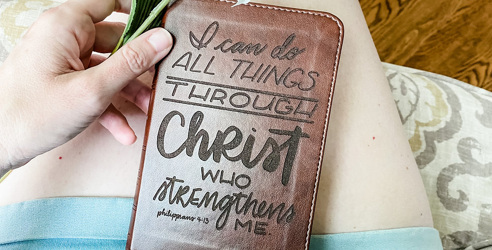 Custom Engraved Bible (ESV - Compact)