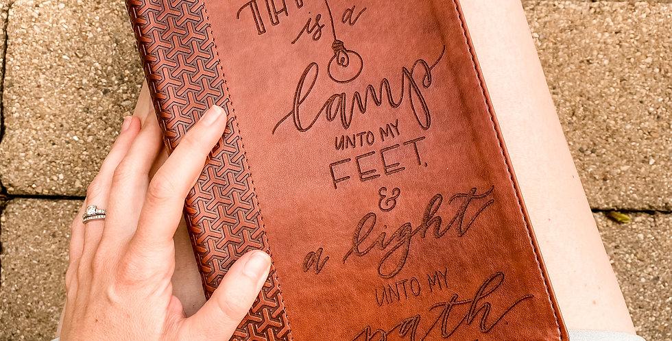 Custom Engraved Bible (KJV Study) - Brown