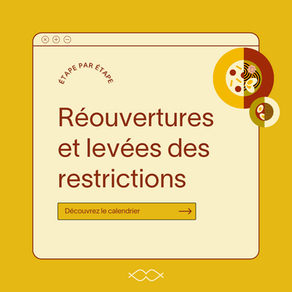 Découvrez le calendrier des réouvertures des restaurants et commerces et les levées de restrictions