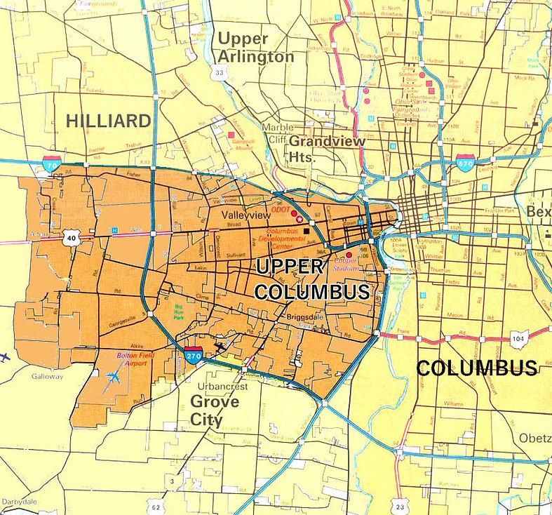 Map of Upper Columbus