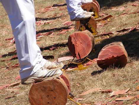 Woodchopping-underhand
