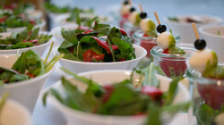 Salate beim Catering