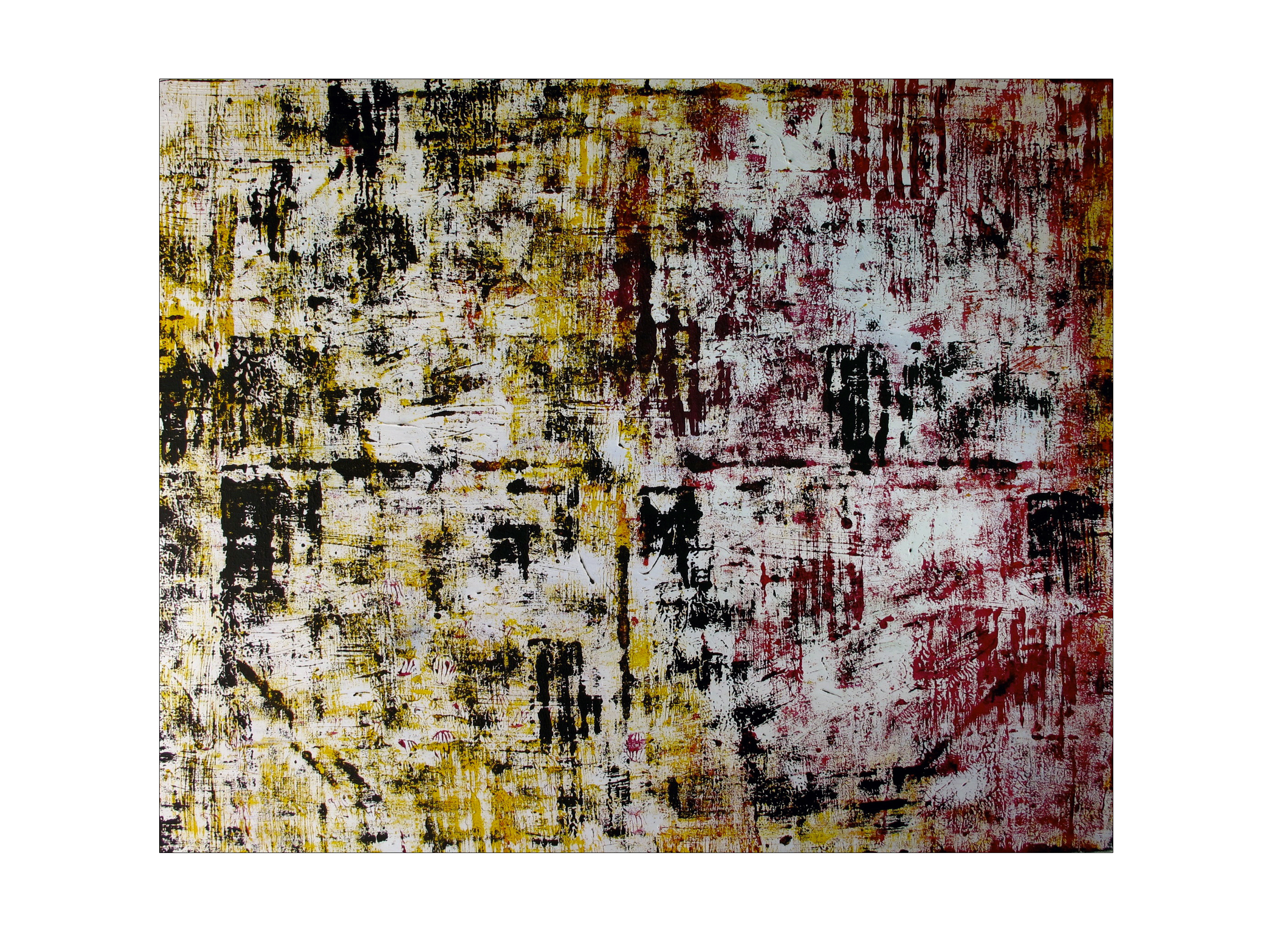 "Aleph / 48"" x 60"" Acrylic, Canvas. 1"