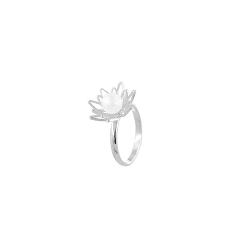शिरीष Zirisa - Pearl Ring (Hallmarked)