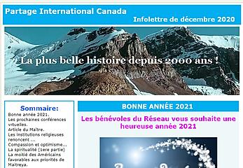 Infolettre de Partage International Canada