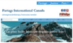 Capture d'écran du site internet de Partage International Canada