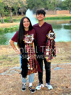 rouse high schoo homecoming mum and gart