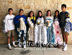 Some of my favorite Lago Vista young people with their Central Texas Spirit Wear mums and garters