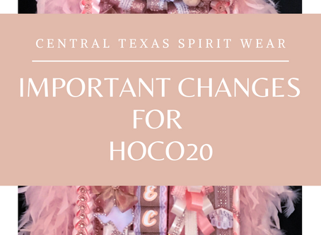 Important Changes for 2020!