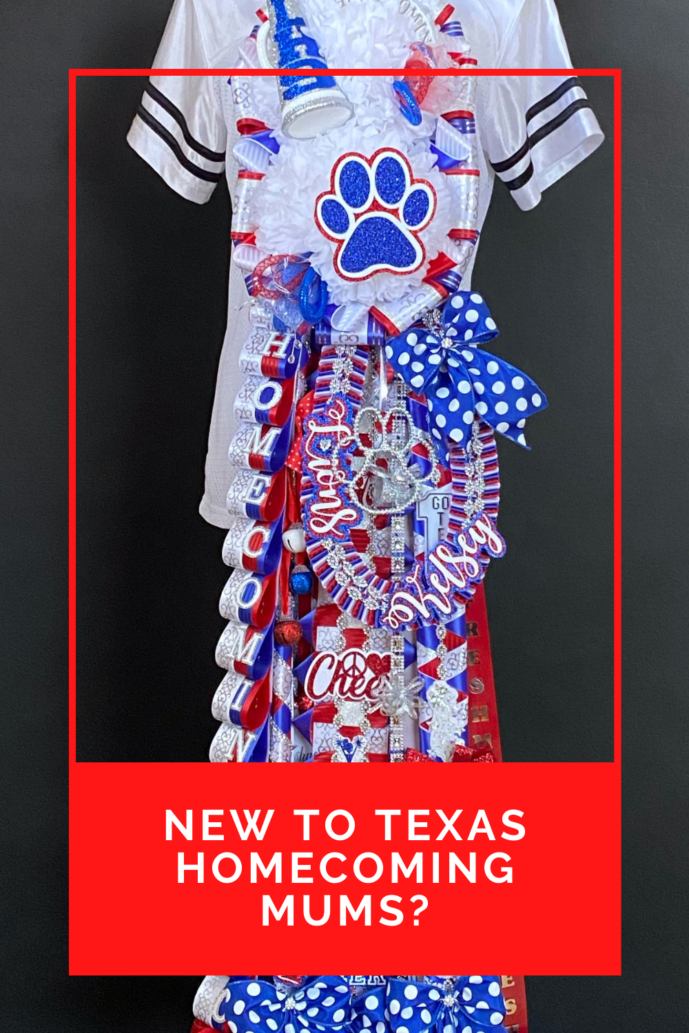 Leander cheer classic double homecoming mum