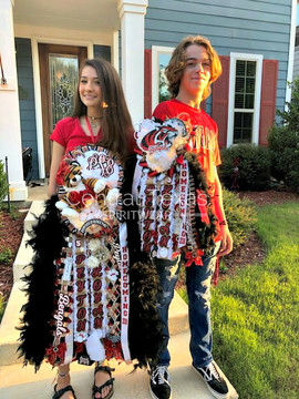 Braswell High School Homecoming Mum and Garter