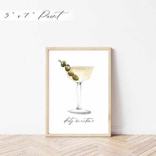 Dirty Martini Watercolor