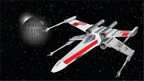 X-Wing + Deathstar